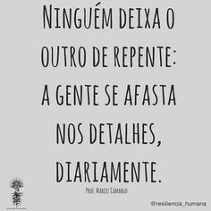 "Carolina R. Dutra on Instagram: ""Sim, uma separação não acontece do dia pra noite, são vários pequenos acontecimentos, falhas. 🎈  O  caminho que antes era um, tornam-se…"" Love Your Life, My Love, Wise Quotes, Music Quotes, Sentences, Quote Of The Day, Texts, Reflection, Stress"