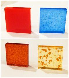 resina de muestras de color