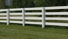 Round Fence Posts with Rails