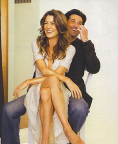 Patrick Dempsey & Ellen Pompeo. I am in LOVE with greys anatomy now that…