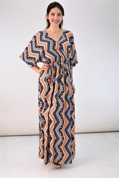 Potre – Μακρύ καφτάνι Short Sleeve Dresses, Dresses With Sleeves, Summer Dresses, Fashion, Moda, Sleeve Dresses, Summer Sundresses, Fashion Styles, Gowns With Sleeves