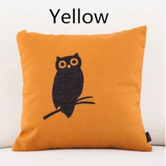 Simple Art owl pillow for home decoration animal couch cushions