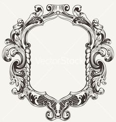 Vintage high ornate original royal frame vector 1221454 - by AZZ on VectorStock�