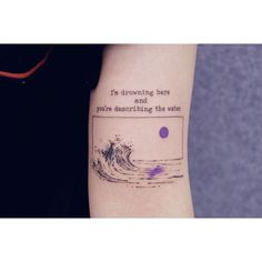 Wellentattoo - Just Tattoos - Tattoo Mini Tattoos, Bts Tattoos, Body Art Tattoos, Small Tattoos, Tatoos, Wave Tattoos, Army Tattoos, Korean Tattoos, Quote Tattoos