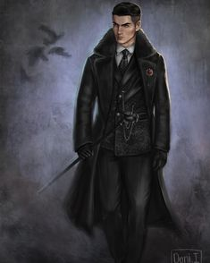Costume Concept Art and development for a show adaptation of Six of Crows (which I read recently and became obsessed with) This is for my… Character Concept, Character Art, Concept Art, Character Design, Fanart, Book Characters, Fantasy Characters, Kaz Brekker, Crooked Kingdom