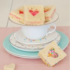 Fairy Bread Sandwiches Recipe - Delish With PB or Nutella instead of butter...
