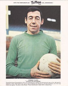 'Banks of England'. Gordon Banks, Stoke City goalkeeper and England World Cup winner. 1967