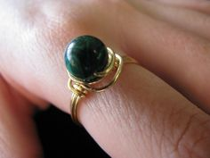Worry rings with gemstone beads - Imgur