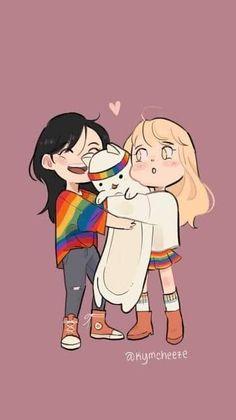 Anime Girlxgirl, Yuri Anime, Anime Couples Manga, Chica Anime Manga, Anime Guys, Cute Lesbian Couples, Lesbian Art, Dibujos Anime Chibi, Anime Sisters