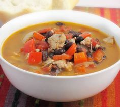 Leftover recipe idea: Southwestern Turkey and Black Bean Soup from Eat In Eat Out magazine. www.eatineatout.ca