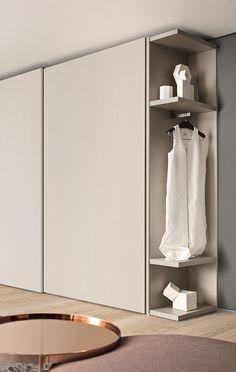 Nastro-wardrobe-PIANCA_04_BIG_V Wardrobe Tv, Minimal Wardrobe, Wardrobe Cabinets, Modern Wardrobe, Bedroom Wardrobe, Wardrobe Design, Home Bedroom, Tv Cupboard, Tv Unit Design