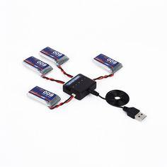3.7V 600MAH 25C 1S1P 2.22WH Battery & Charger for Syma X5C X5SW X5SC