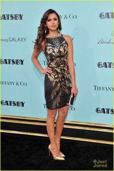 Premiere of 'The Great Gatsby' NY 2013 - Nina Dobrev in a Versace dress