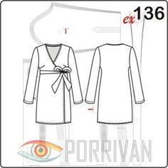 Выкройка платья с запахом построена, конечно же, для шитья из джерси. Это платье давно стало классикой женской одежды и любимо многими. С шитьём платья с з