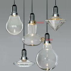 Modern Glass Shadows 3W LED Pendant Lamp Suspension Light Chandelier Lighting #Modern