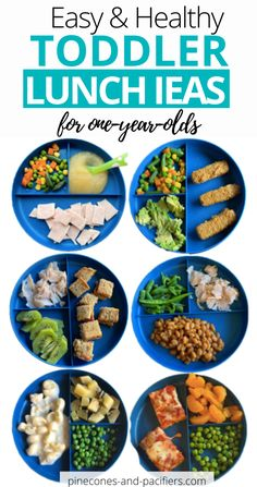 15 Healthy Lunch Ideas for One Year Olds. Need inspiration for your toddler's lunch? I'm sharing 15 quick and simple lunch ideas based on what my one-year-old toddler has been eating for lunch. Healthy Toddler Lunches, Healthy Toddler Meals, Kids Meals, Toddler Dinners, Toddler Food, Healthy Toddler Breakfast, Dinners For Kids, Toddler Dinner Recipes, Easy Toddler Snacks