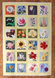 The Flower Garden Quilt Foundation Paper Pieced Quilt 60 X 80