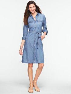 353dcffc24 Polo Ralph Lauren Denim Button-Down Shirtdress