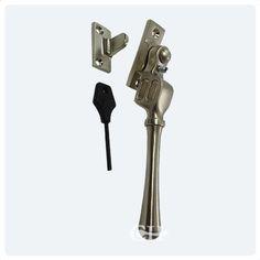 casement window fastener (locking) in brass bronze chrome or nickel