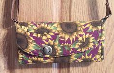 Sunflower Burst Wallet, Purse, Clutch, NCW by MyCreativeBranch on Etsy