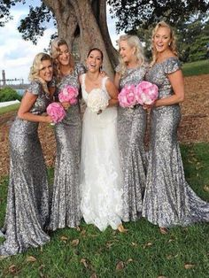 Long Sliver Sequined Bridesmaid Dress, Mermaid bridesmaid dress, Sparkly bridesmaid dress, Bridesmaid dress for wedding party. PD21090