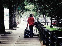 Just Another Day by Cattura - A homeless man walking around in a big city, just another day Homeless Man, Beautiful Artwork, Walking, Portraits, Wall Art, City, People, Head Shots, Walks