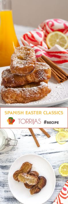 Torrijas are a Spanish bread pudding traditionally prepared and eaten during Easter period. Give them a try, they're delicious. #Recipe