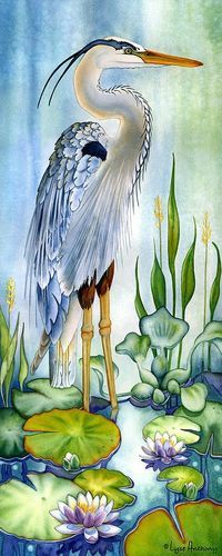 Decorative Pictures With Birds Watercolour Painting By Lyse Anthony Watercolor Bird, Watercolour Painting, Painting & Drawing, Silk Painting, Watercolor Artists, Watercolours, Watercolor Tattoo, Animal Paintings, Bird Art