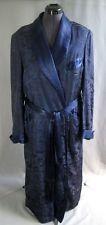Mid-Century 100% Silk Blue Men's Lounging Robe Marshall Fields Hefner Suskana
