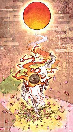 Amaterasu from Okami - Gamer House Ideas 2019 - 2020 Amaterasu, Japanese History, Japanese Art, Mobile Wallpaper, Wallpaper Backgrounds, Dragons, Japan Image, Japanese Mythology, Video Game Art