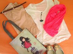 Ef Zin Creations: Girly Pink  #pink #outfit #fashion #picoftheday #casual #girly #shopping #bag #scarf #elegant #pendant #necklace #fucshia #pants #shoes #fashionistas