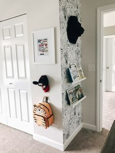 toddler toddler room boy room toddler boy room removable wallpaper IKEA bookshelf toy box twin bed b Ikea Boys Bedroom, Boy Toddler Bedroom, Big Boy Bedrooms, Toddler Rooms, Toddler Teepee, Toddler Boy Room Ideas, Teenage Bedrooms, Toddler Boy Beds, Ikea Toddler Bed