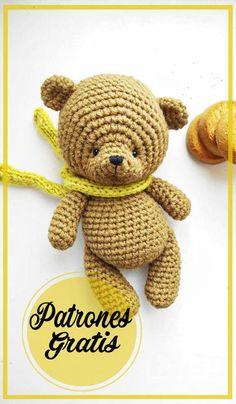 Crochet Bear, Crochet Patterns Amigurumi, Love Crochet, Baby Blanket Crochet, Amigurumi Doll, Crochet Animals, Crochet Toys, Amigurumi Free, Amigurumi For Beginners