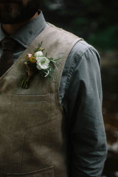 Earthy groom style | Image by With Love & Embers