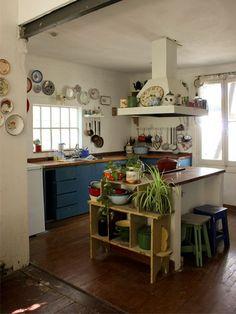 Bohemian Furniture and Home Decor | Bohemian kitchen decor! Love these unique kitchens...