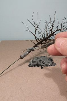 Bild Miniature Plants, Miniature Dolls, Model Tree, Plant Projects, Mini Plants, Tiny World, Train Layouts, Driftwood Art, Model Building