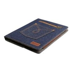Decrescent Blue Jeans Denim Folio Case with Built-in Multi-Angle Stand and Magnetic Auto Sleep & Wake Function for New Apple iPad 4 (with Retina Display), iPad 3 & iPad 2: Amazon.ca: Electronics