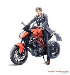 Image via We Heart It https://weheartit.com/entry/107040971 #exo #fanart #motorcycle #badboy #kai