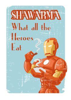 Shawarma with Heroes by Ian Pointer, via Behance