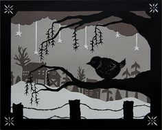 Warm Spot - Cut Paper Art | by ruralpearl