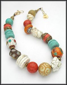 OUT OF TIBET  Mixed Tibetan and Gemstone by sandrawebsterjewelry, $195.00