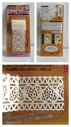 Lace border sticker $1.50 each - @ Daiso (check Torrance store: 3842 Sepulveda Blvd, Torrance CA, 90505)