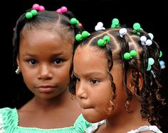 Girls in the town of Cabral, Dominican Republic (by Emile De Boyrie)