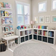 155 clever kids bedroom organization and tips ideas -page 34 Ikea Baby Room, Kids Bedroom Organization, Clever Kids, Toy House, Playroom Design, Playroom Ideas, Colorful Playroom, Toddler Playroom, Sustainable Furniture