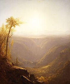 A Gorge in the Mountains (Kauterskill Clove) Sanford R. Gifford (US American, 1823 – Oil paint on canvas, x cm Metropolitan Museum of Art, New York (USA) Landscape Art, Landscape Paintings, Landscapes, Oil Paintings, Classical Realism, Hudson River School, Mountain Paintings, Luxor Egypt, Romanticism