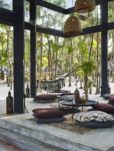 The ocean and the jungle sandwich style and seclusion at a Tulum design hotel led by culture and experience...