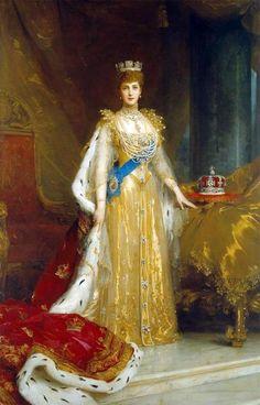 Queen Alexandra in Her Coronation Dress - Unknown