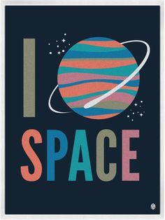 I Heart Space Print | My Little Underground