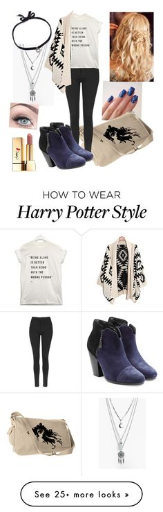 """""""On The Mark"""" by firestarqueen on Polyvore featuring Topshop, rag & bone, Boohoo, DANNIJO and Yves Saint Laurent"""