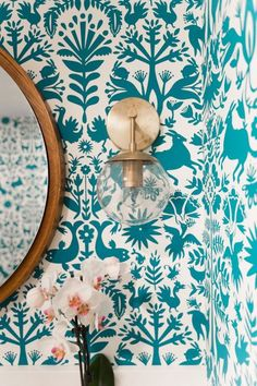 Wallpapered bathroom inspiration